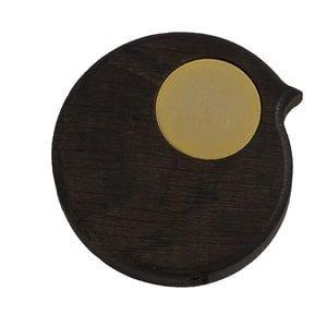 BiRPmagnet i røget egetræ med gyldent øje