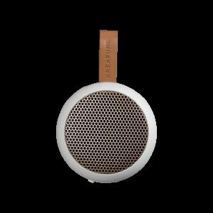 Kreafunk aGO Bluetooth højtaler, white w. rose gold grill